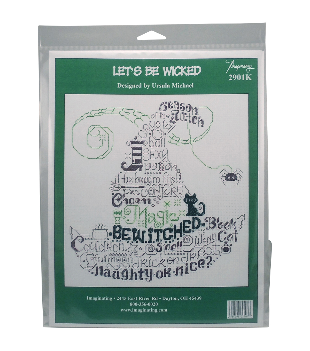 Imaginating Counted Cross Stitch Kit-Let's Be Wicked