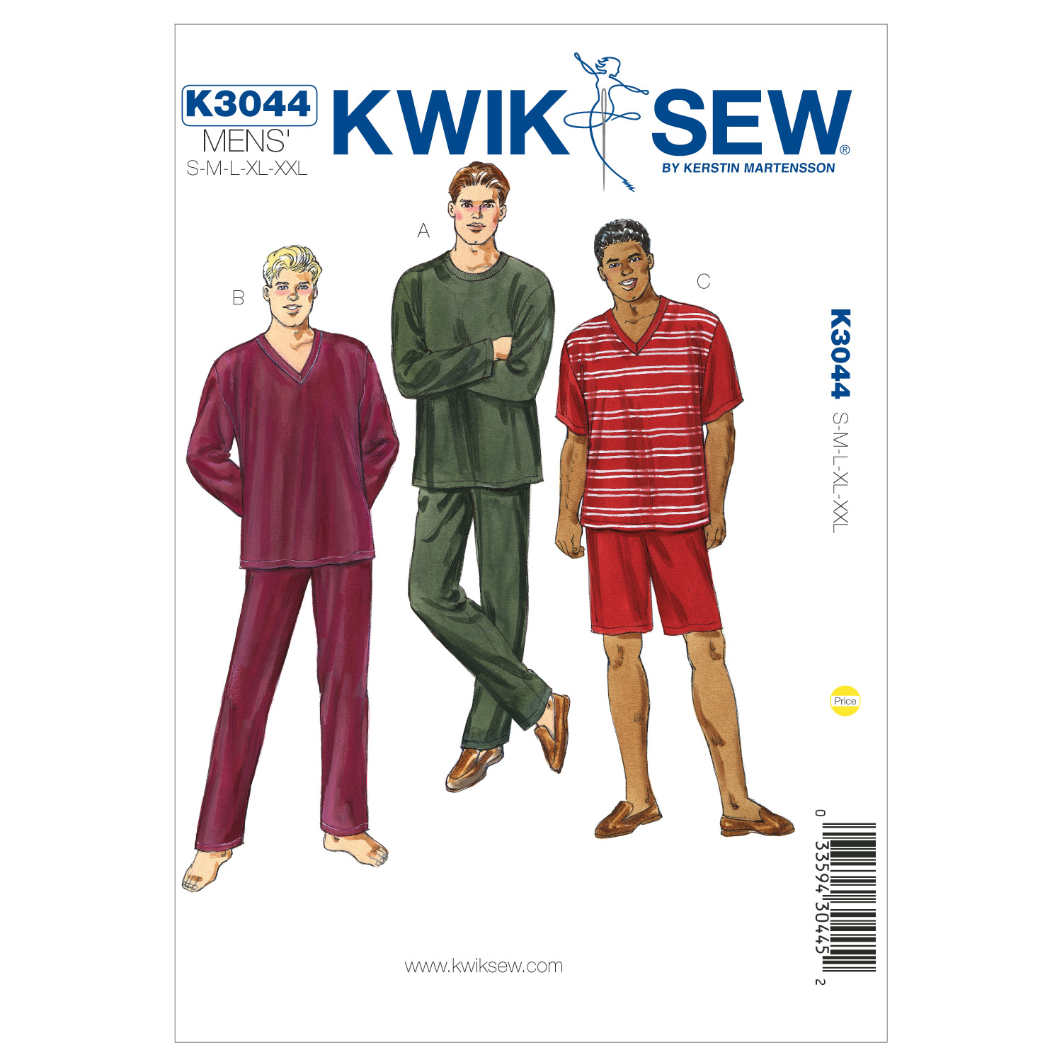 Kwik Sew Mens Sleep & Lounge-K3044