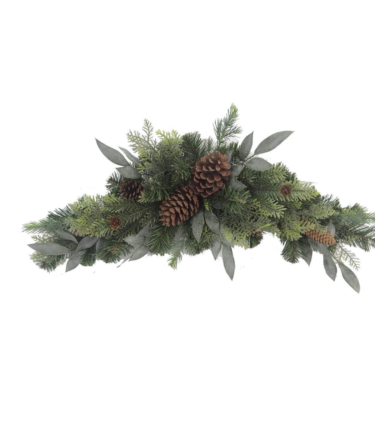 Blooming Holiday 30'' Mixed Greenery And Pinecone Swag