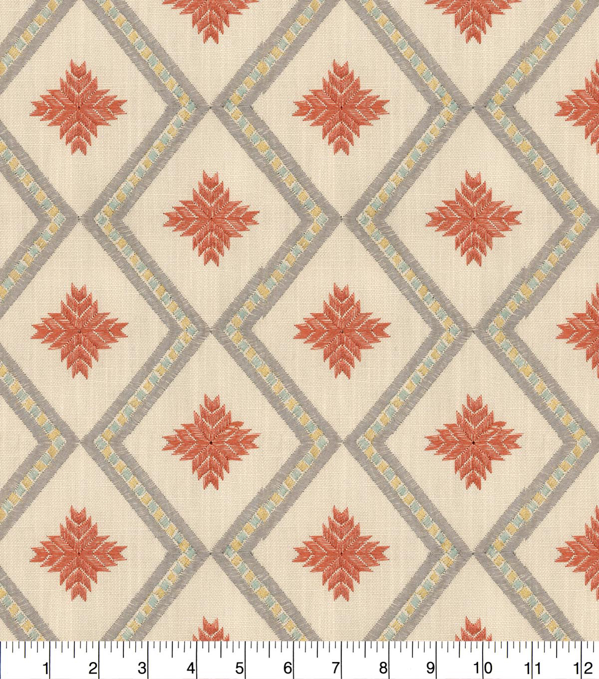 Genevieve Gorder Embroidered Upholstery Fabric 54''-Adobo Kyss