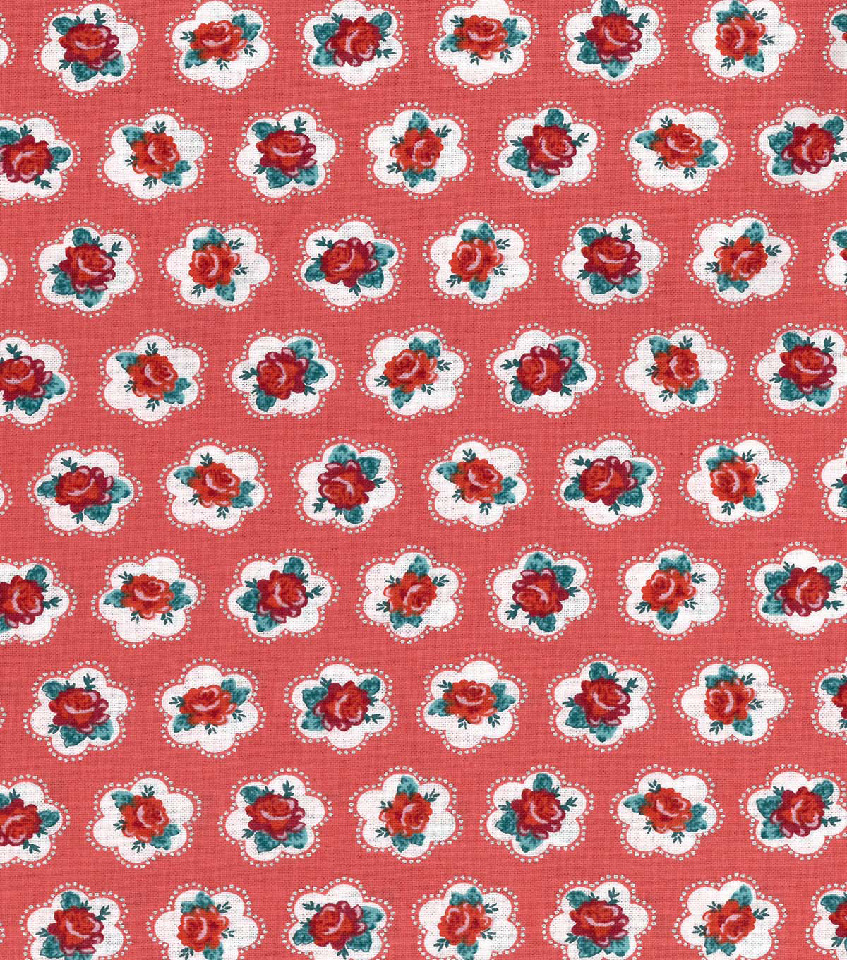 "Buttercream™ Poppy Cotton Fabric 43""-Ditsy Floral Red"