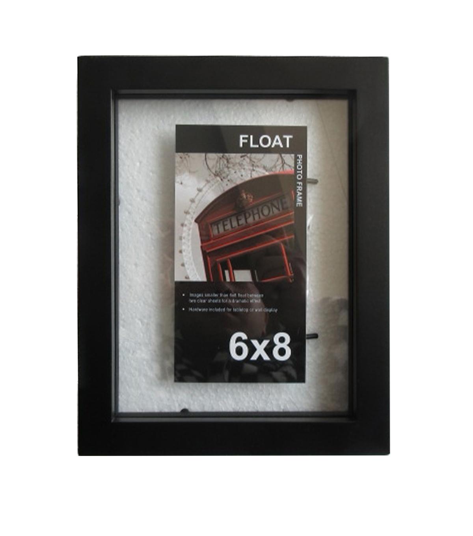 wood float frame 6x8black