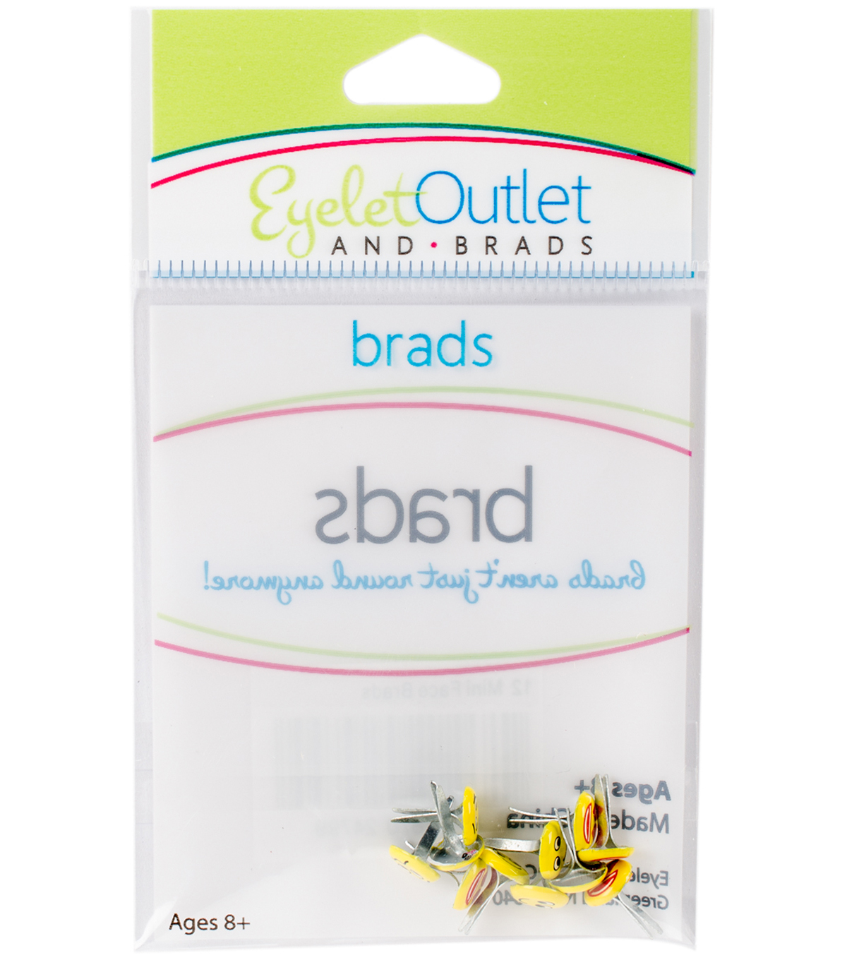 Eyelet Outlet Shape Brads-Mini Emotion