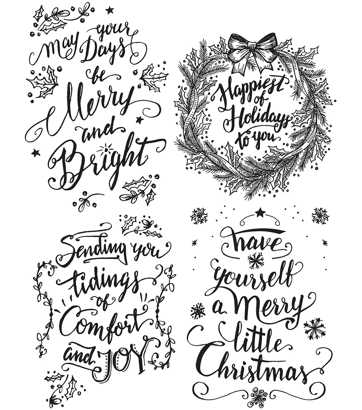 Tim Holtz Cling Stamps 7\u0022X8.5\u0022-Doodle Greetings #1