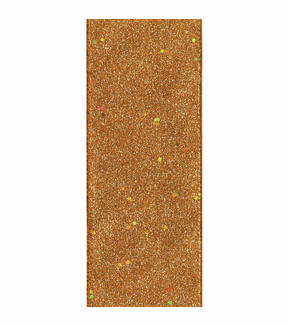 Offray Wired Edge Craft Ribbon-Glitter Copper