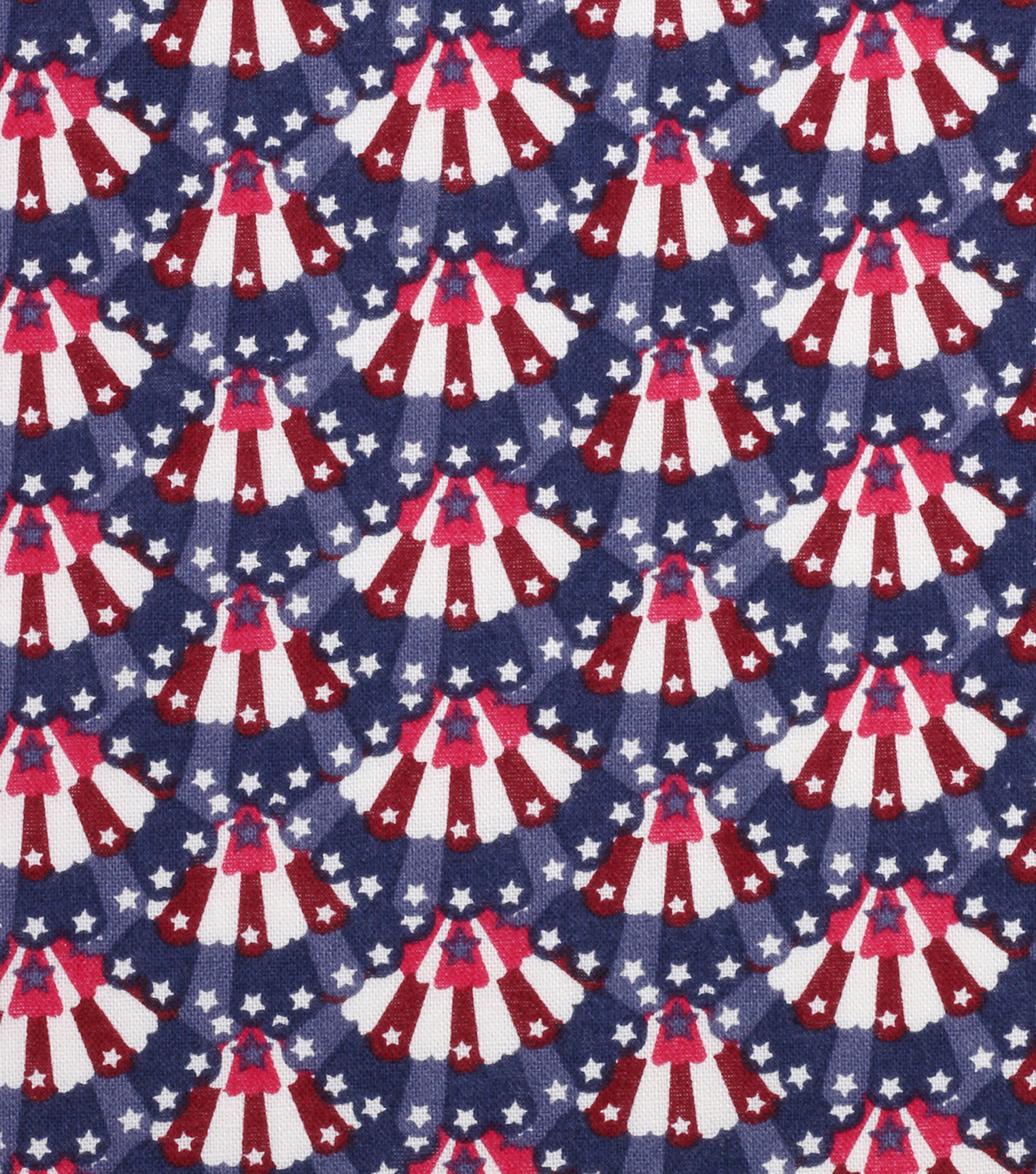 Patriotic Cotton Fabric 43\u0022-Mini Bunting