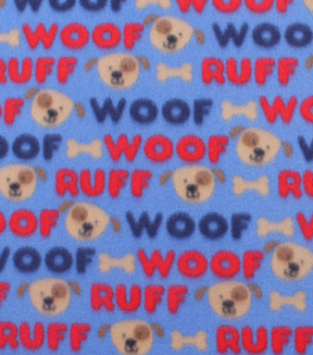 "Blizzard Fleece Fabric 59""-Woof Ruff Pup"