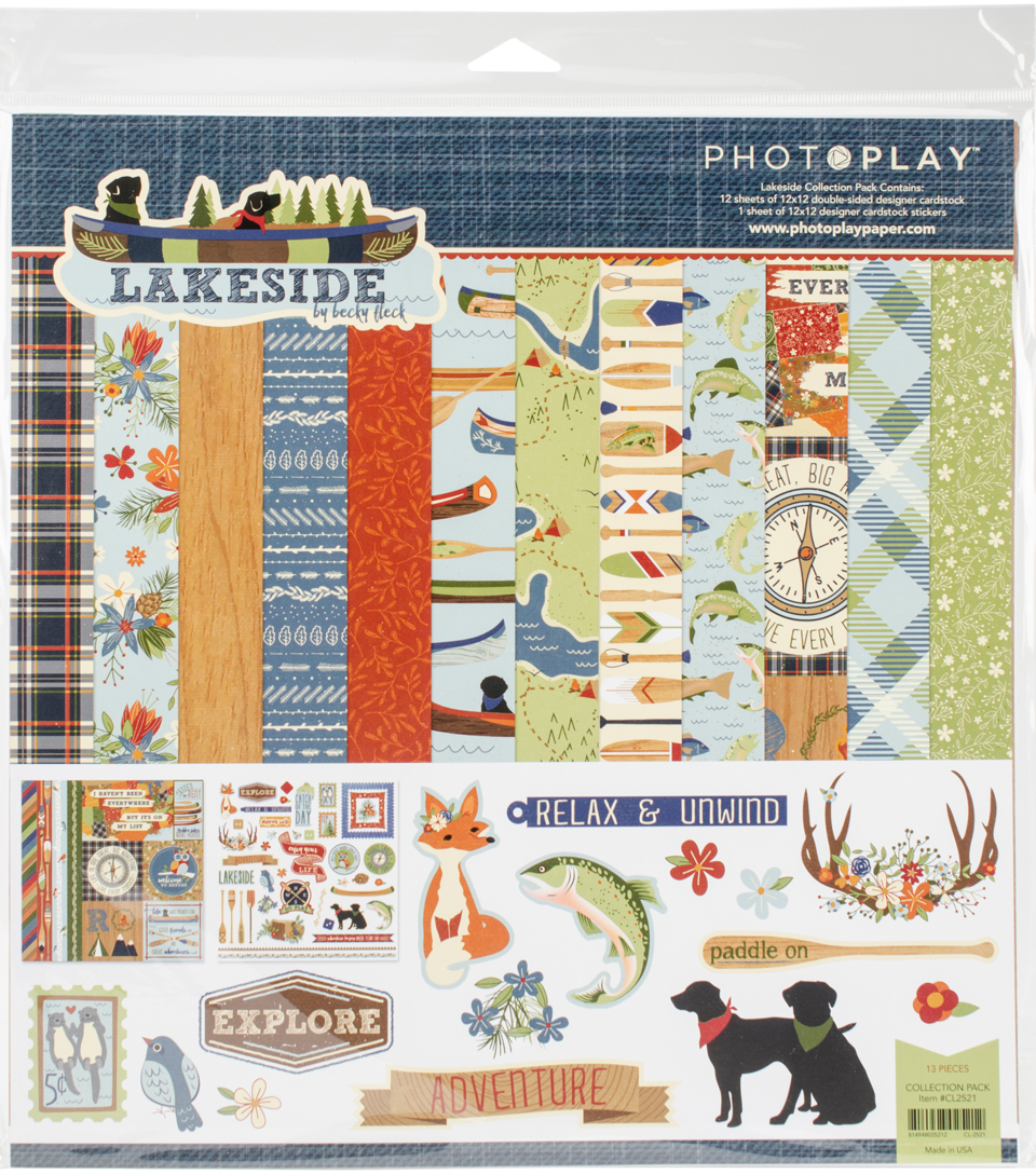 "Photo Play Collection Pack 12""X12""-Lakeside"