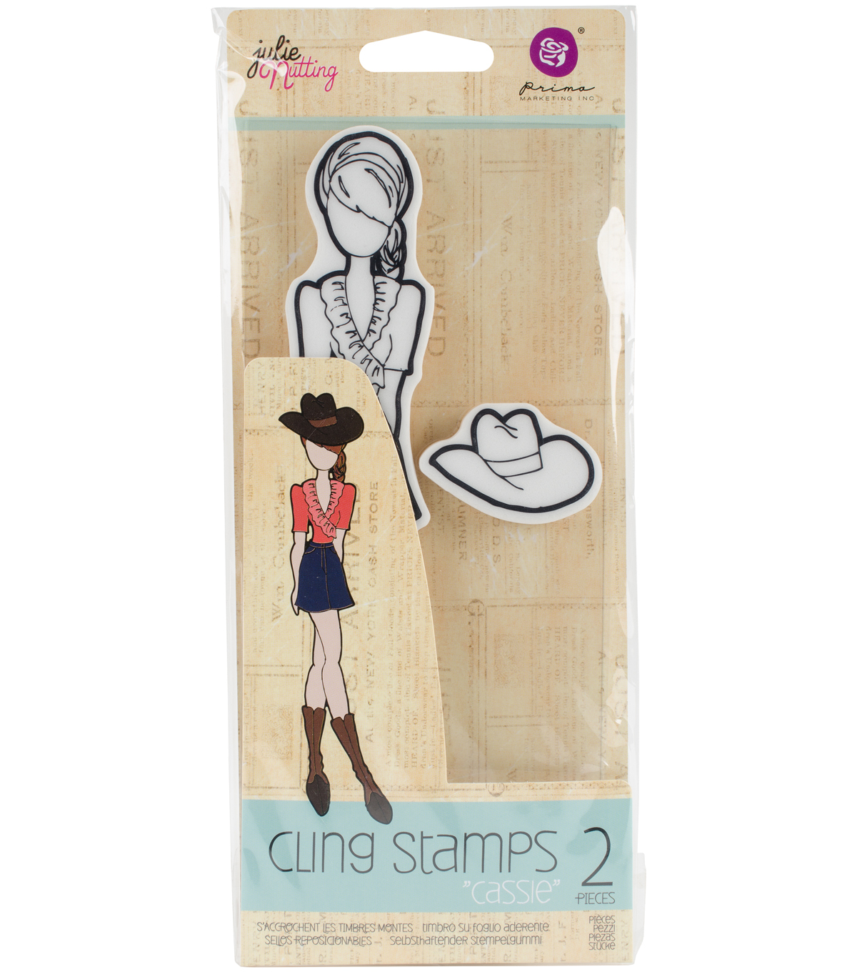 Mixed Media Cling Rubber Stamps-Cassie