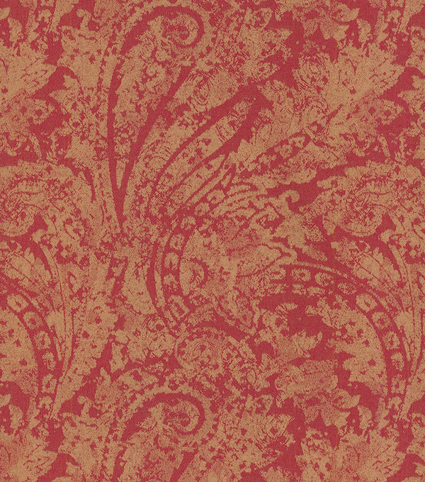 "Waverly Upholstery Fabric 55""-Burnished Scroll/Garnet"