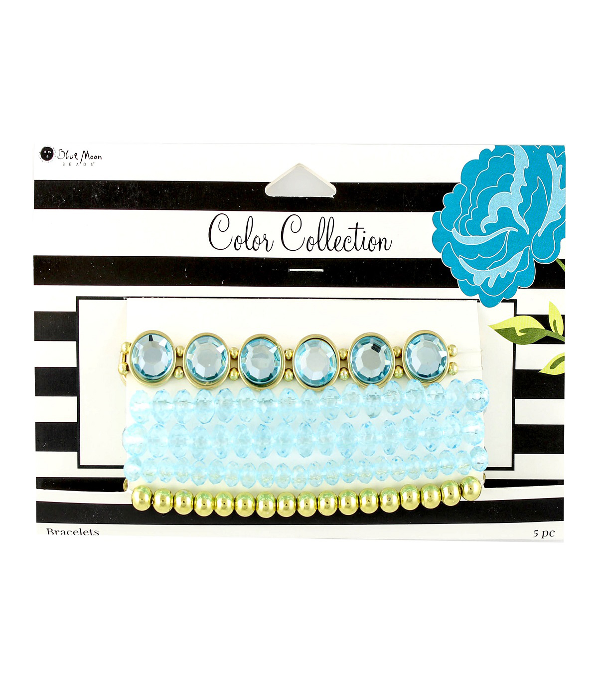 Blue Moon Beads Color Collection Bracelet Set-Turquoise Gold