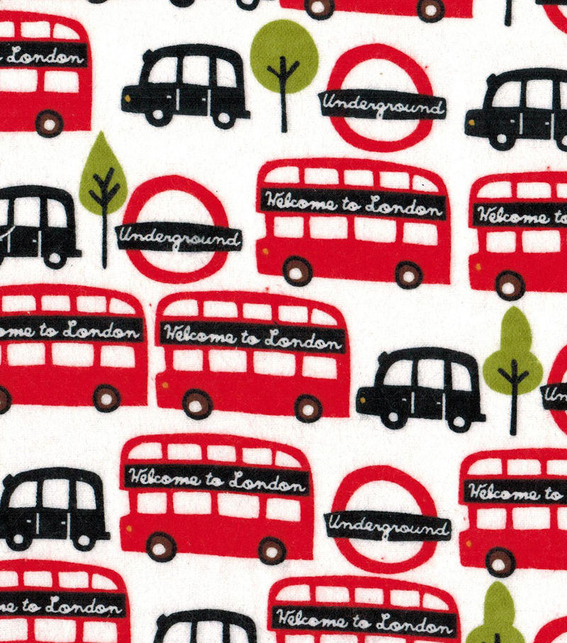 Snuggle Flannel Fabric 42\u0022-Welcome To London