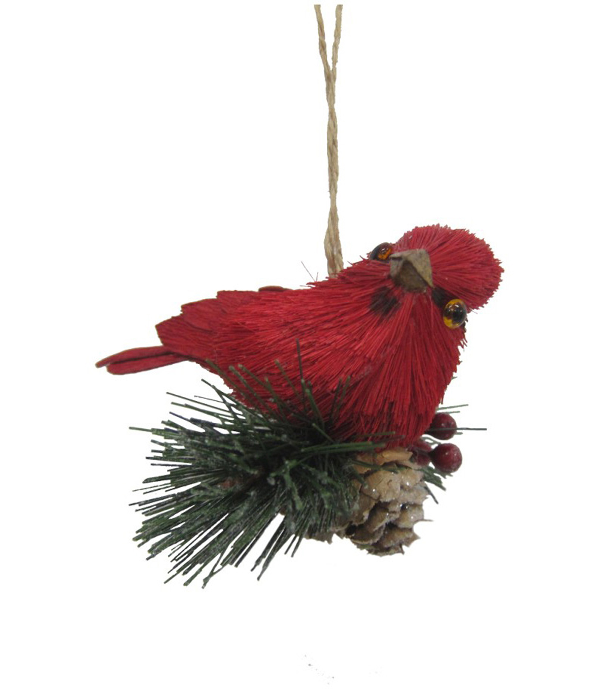 Maker\u0027s Holiday Christmas Woodland Lodge Cardinal Ornament-Red