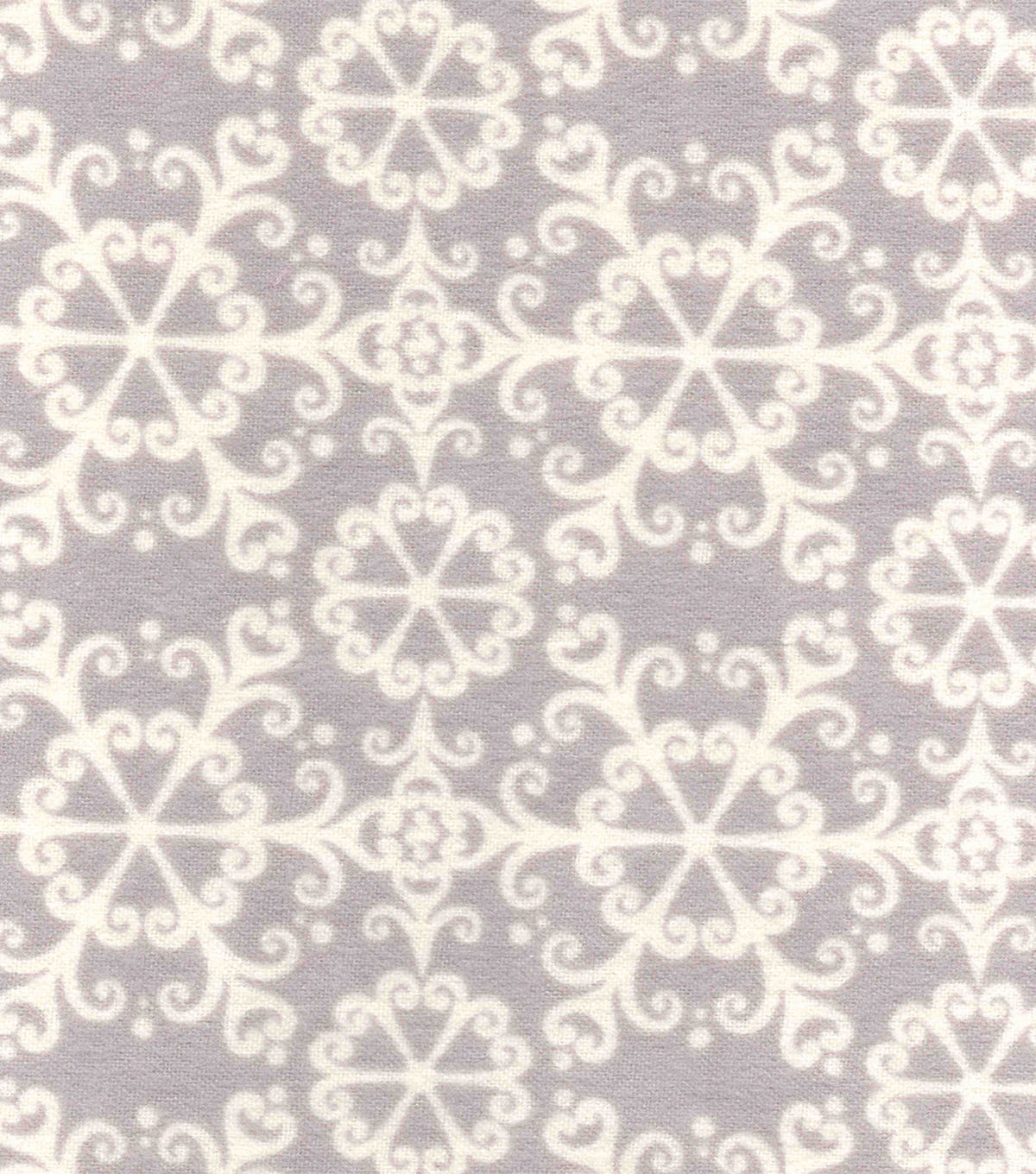 "Snuggle Flannel Fabric 42""-Snowflakes On Grey"