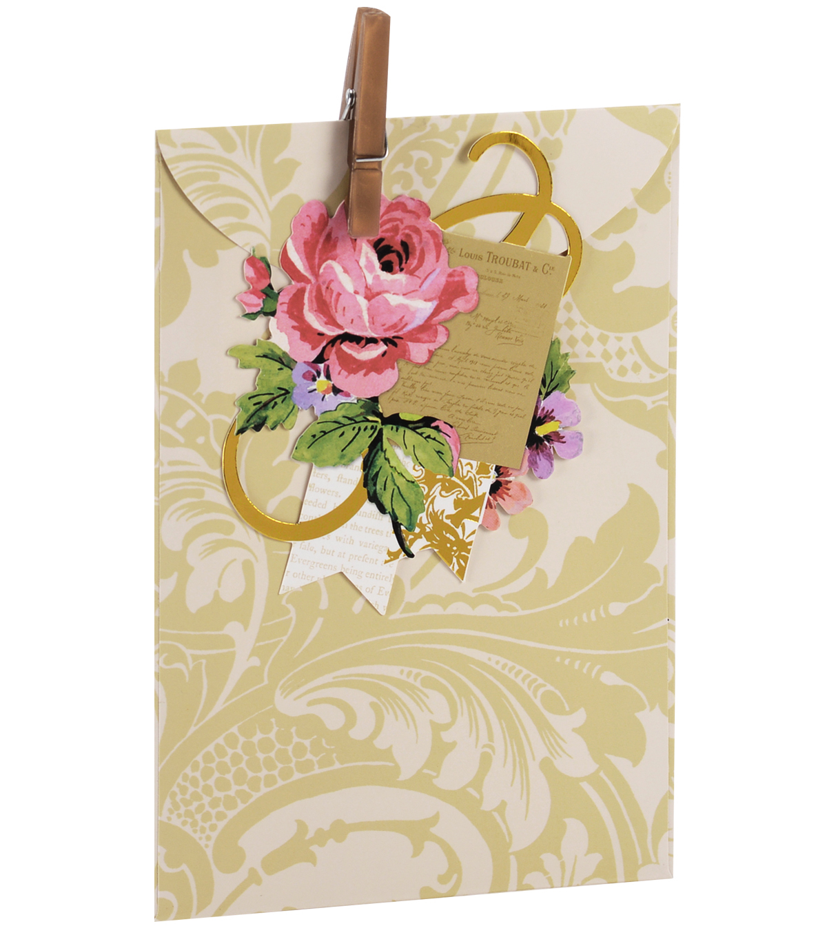 Anna Griffin Ivory Damask Treat Bag 4 Count