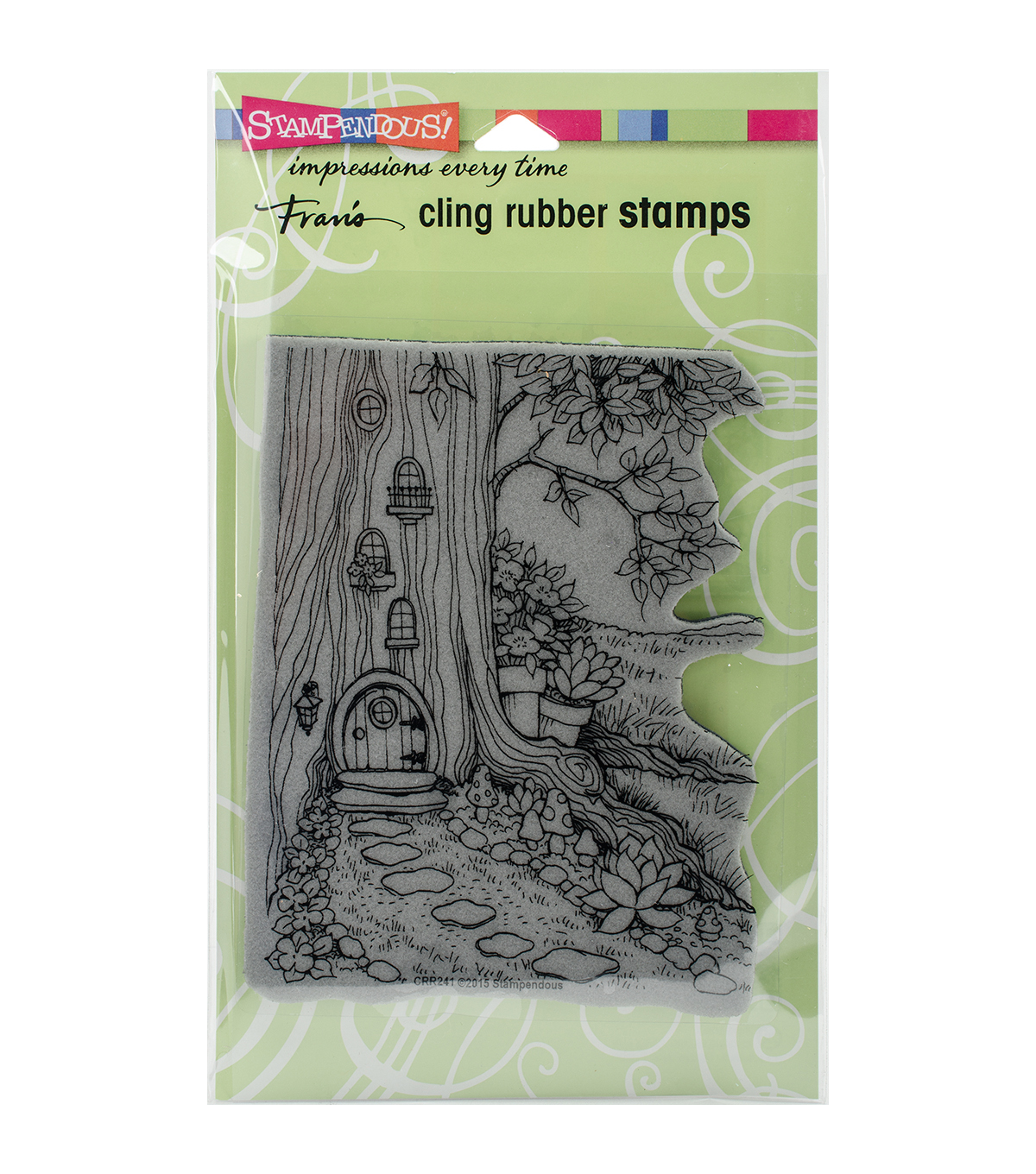 Stampendous Cling Stamp-Gnome Home