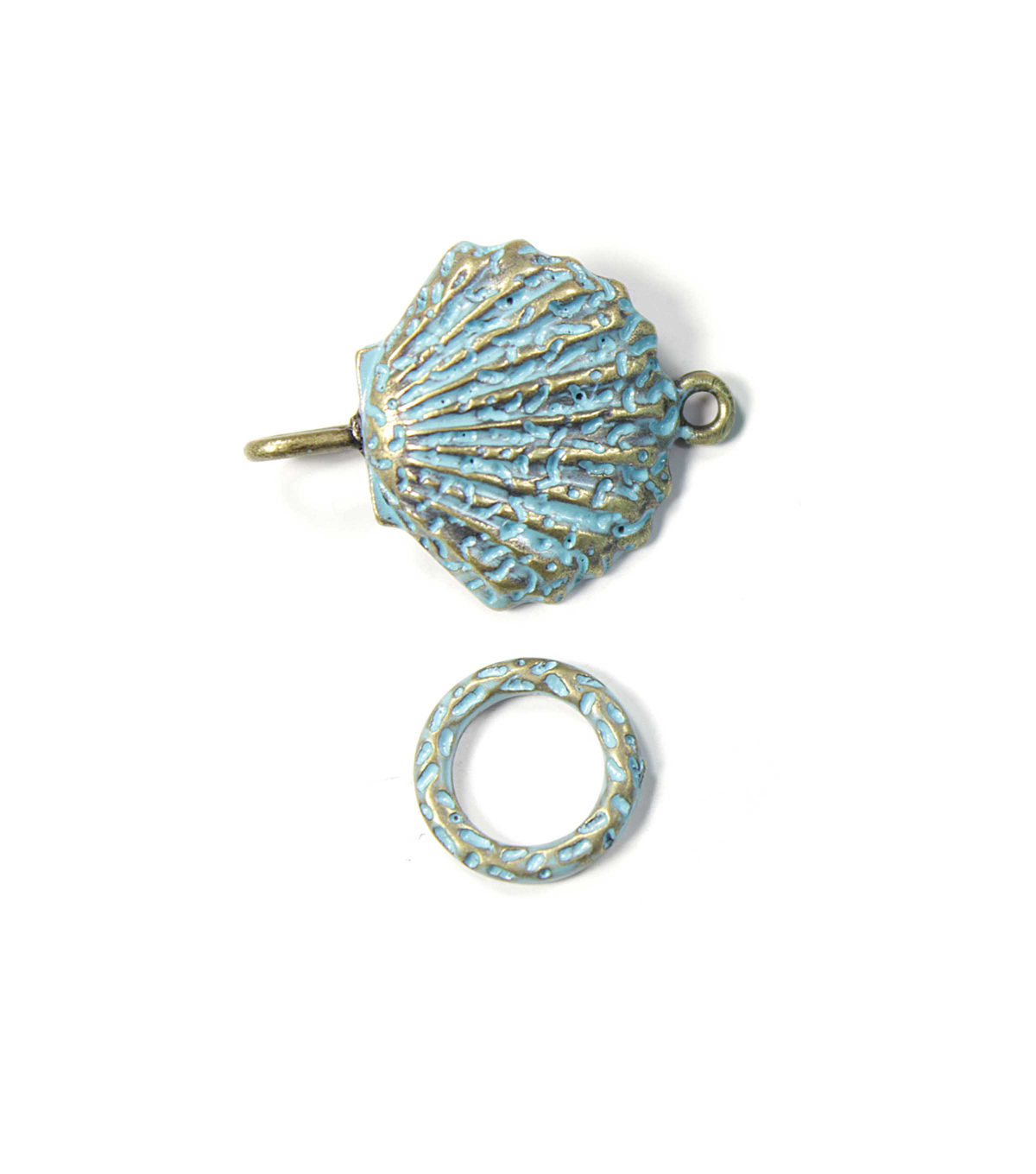 Blue Moon Findings Clasp Metal Hook Shell Patina