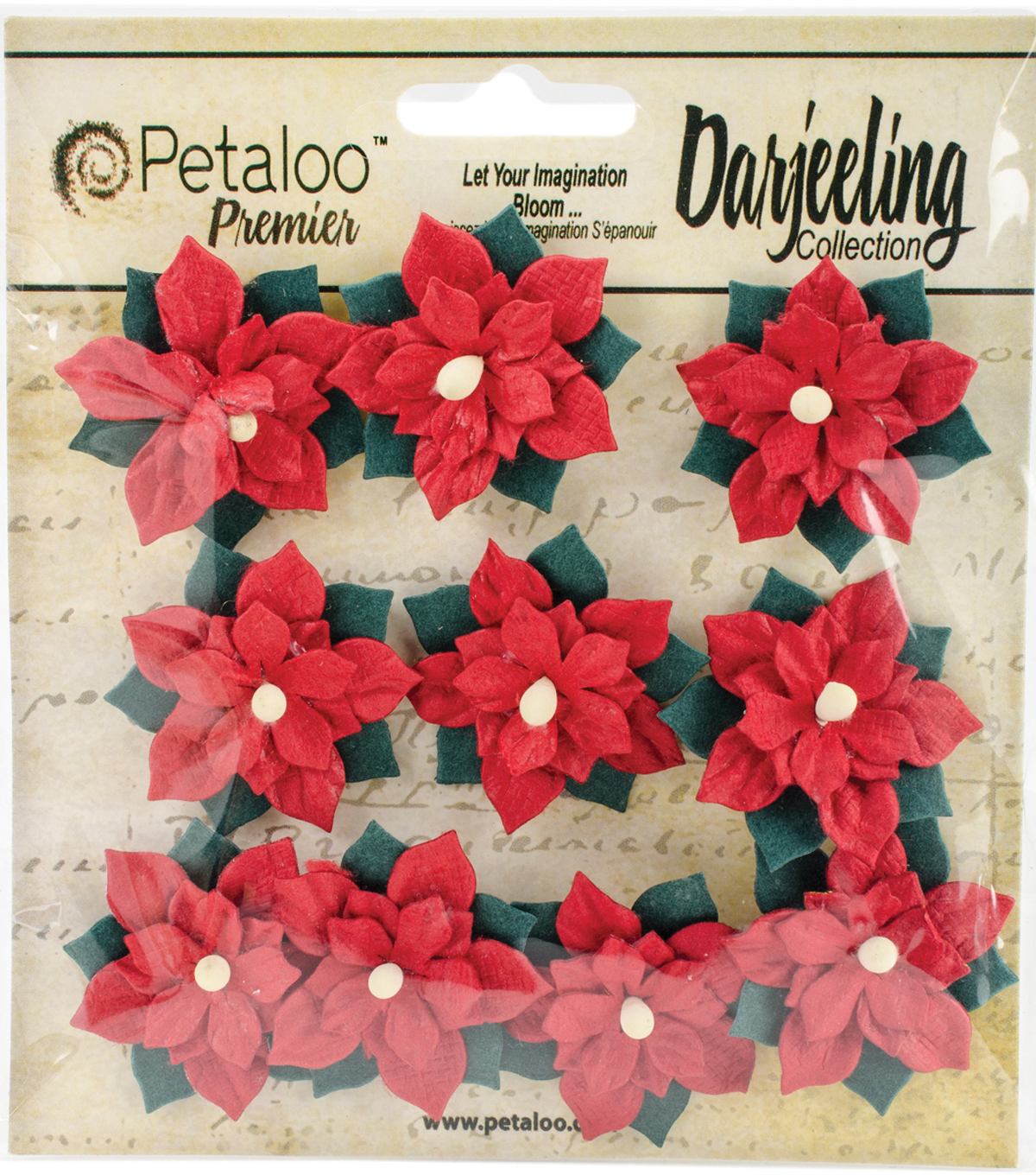 Petaloo Botanica Vintage 9ct Velvet Mini Flowers
