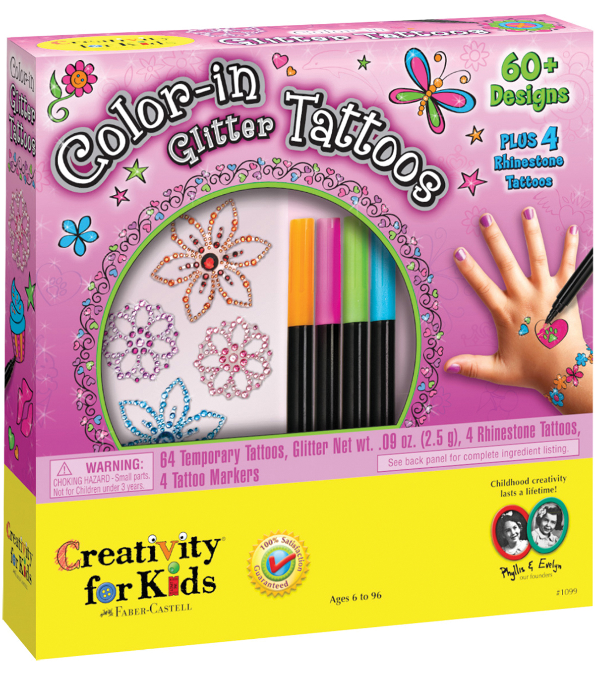 Creativity For Kids Color-In Glitter Tattoos Kit