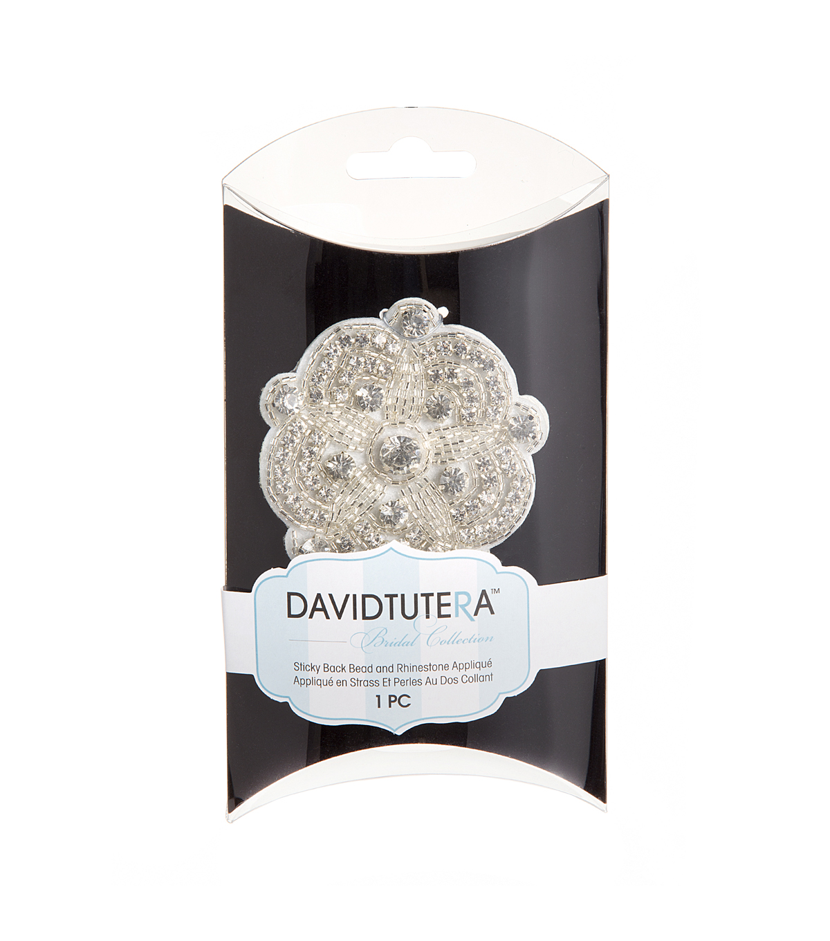 David Tutera Flower Rhinestone Broach-Silver