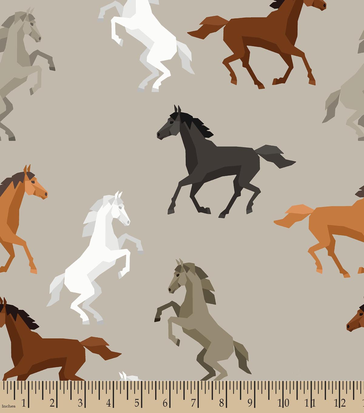Horses print fabric joann for Horse fabric for kids