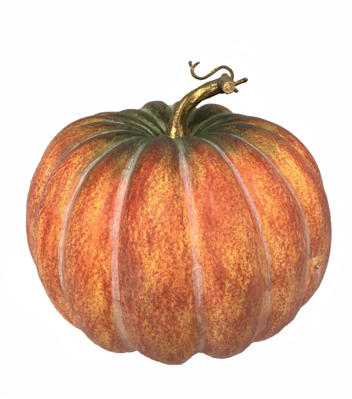 Blooming Autumn Large Realistic Pumpkin-Orange