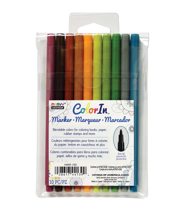 Color In Fine Tip Markers 10/Pkg-Natural