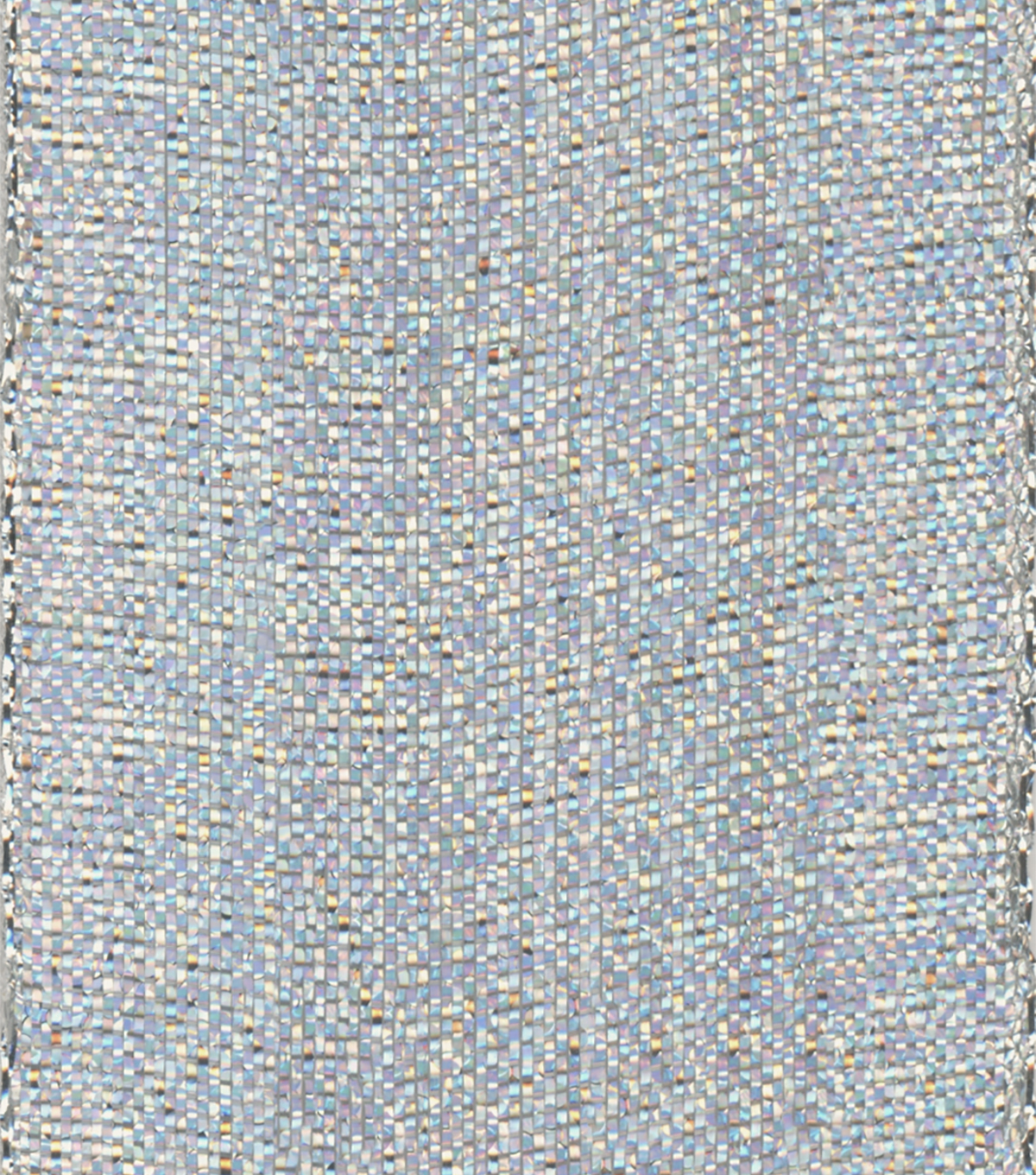 Offray 1.5\u0022x9\u0027 Soda Pop Metallic Woven Ribbon-Silver