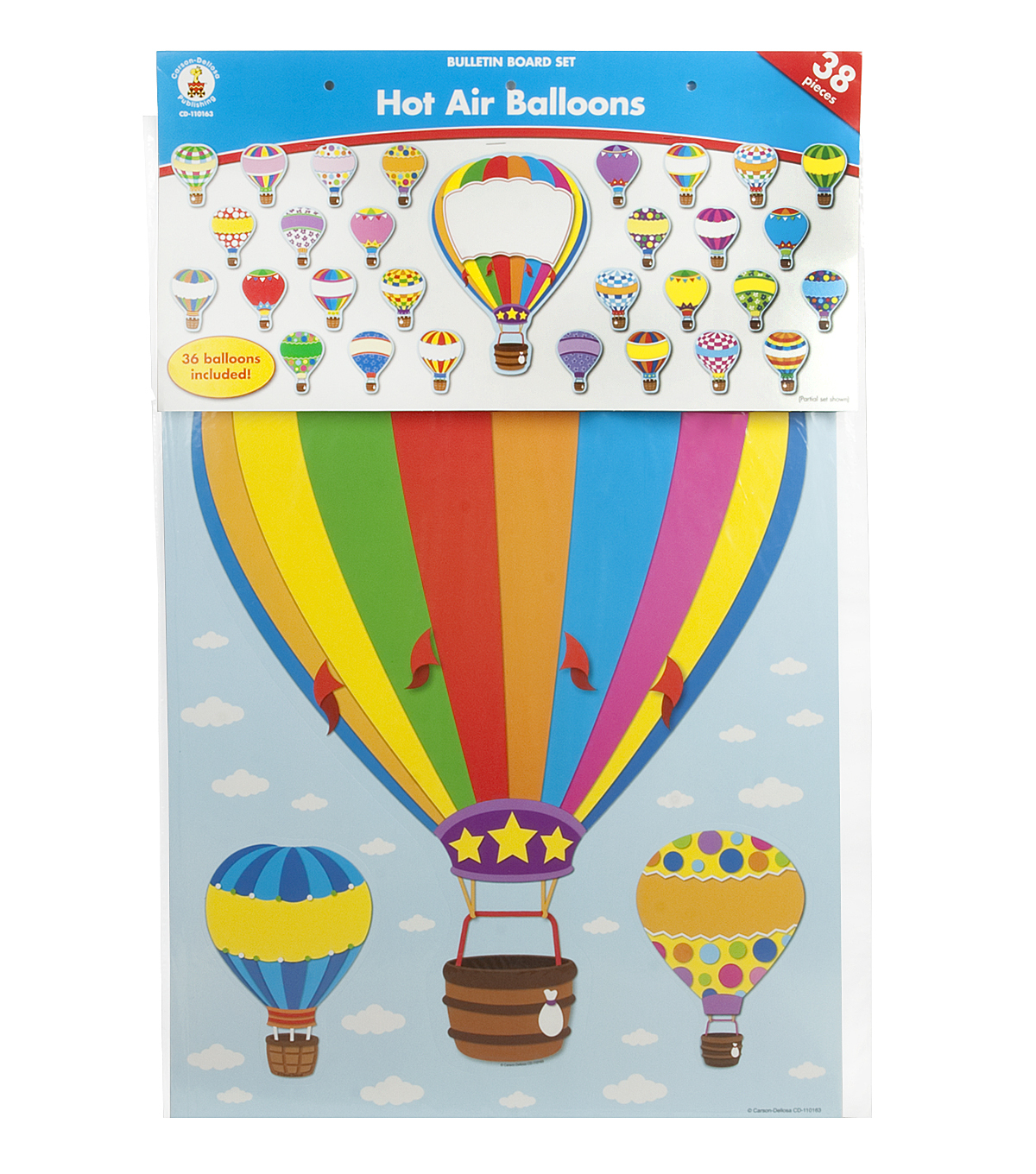 Carson Dellosa Hot Air Balloon Bulletin Board Set