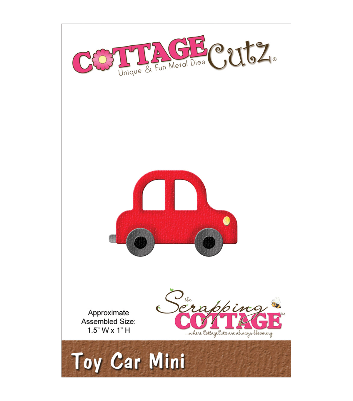 "CottageCutz Mini Die 1.5""X1""-Toy Car"
