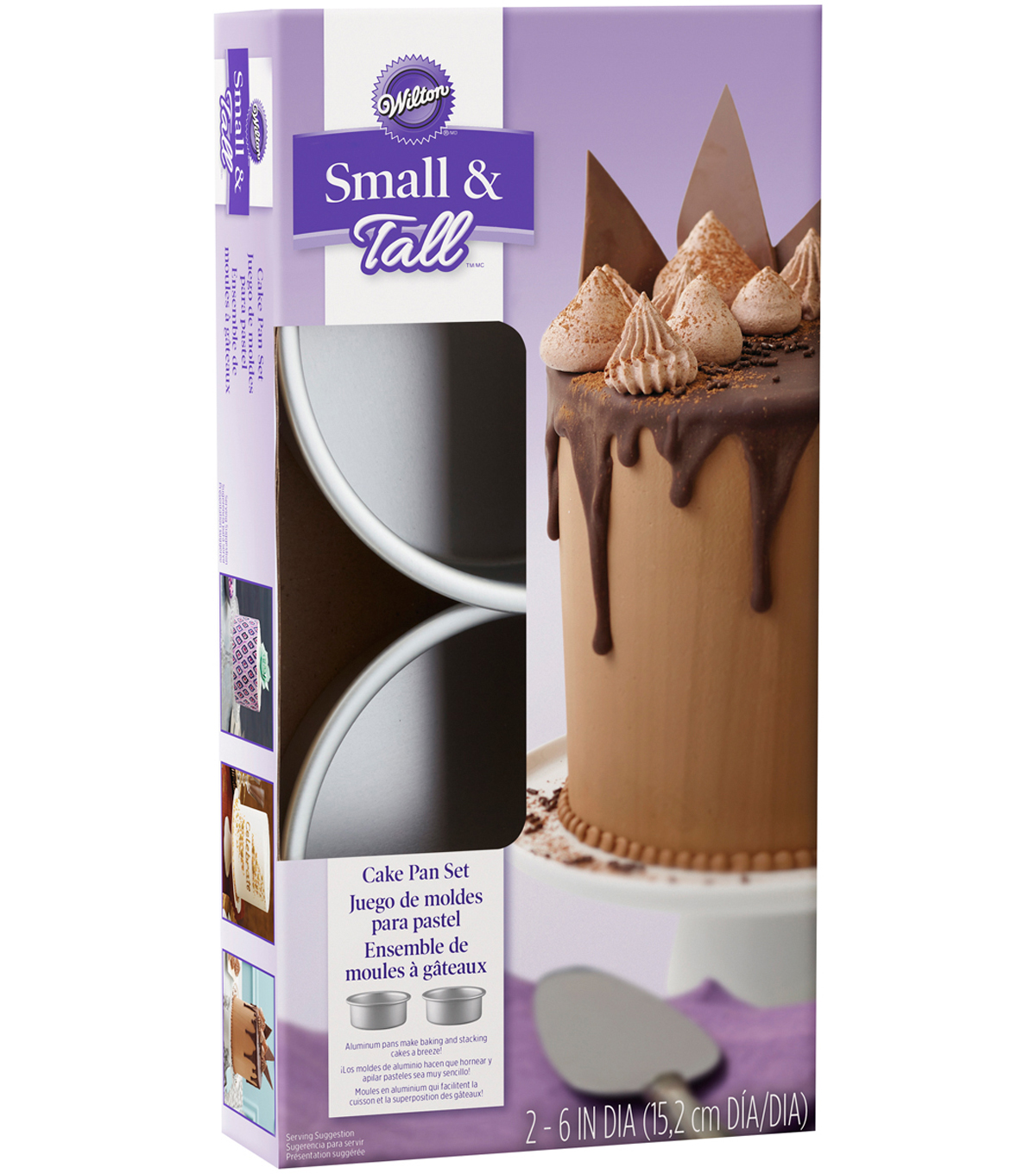 Wilton® Small & Tall Layered Cake Pan Set