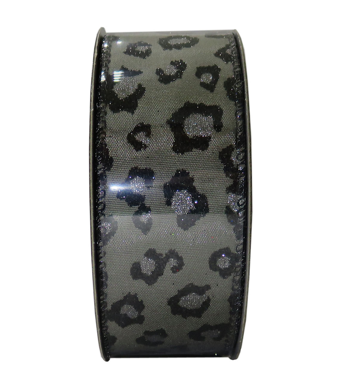 Decorative Ribbon 1.5\u0027\u0027 X 15\u0027-Black Cheetah