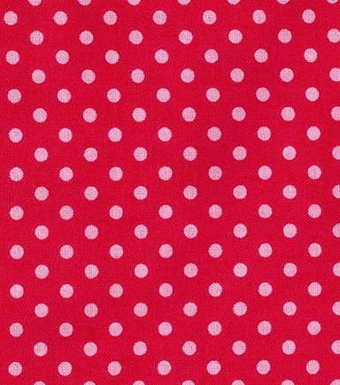 Keepsake Calico™ Cotton Fabric-Rose In Bloom Dot On Red