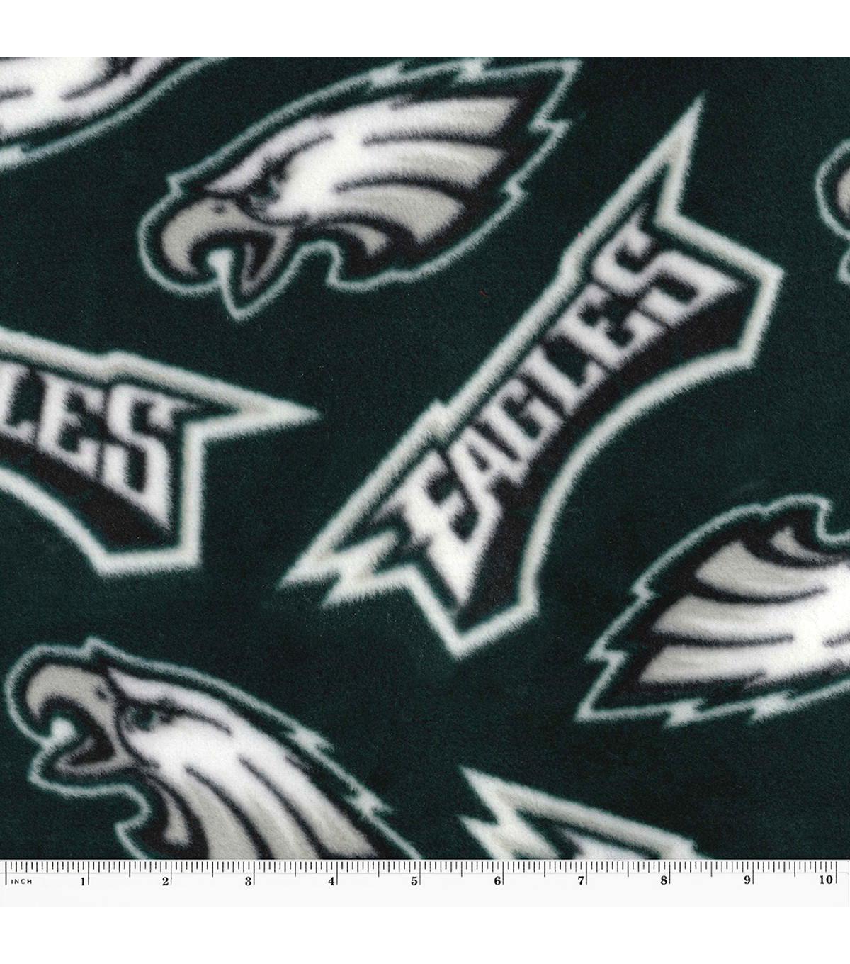 Philadelphia Eagles Fleece Fabric 58\u0022-Tossed