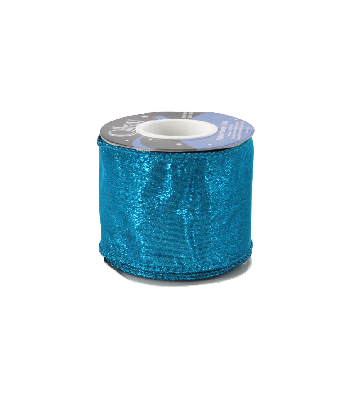 Offray® Luxury Ribbon 2 1/2\u0027\u0027-Metallic Turquoise