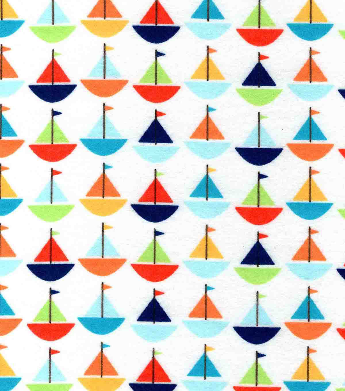 "Snuggle Flannel Fabric 42""-Baby Sailboats"