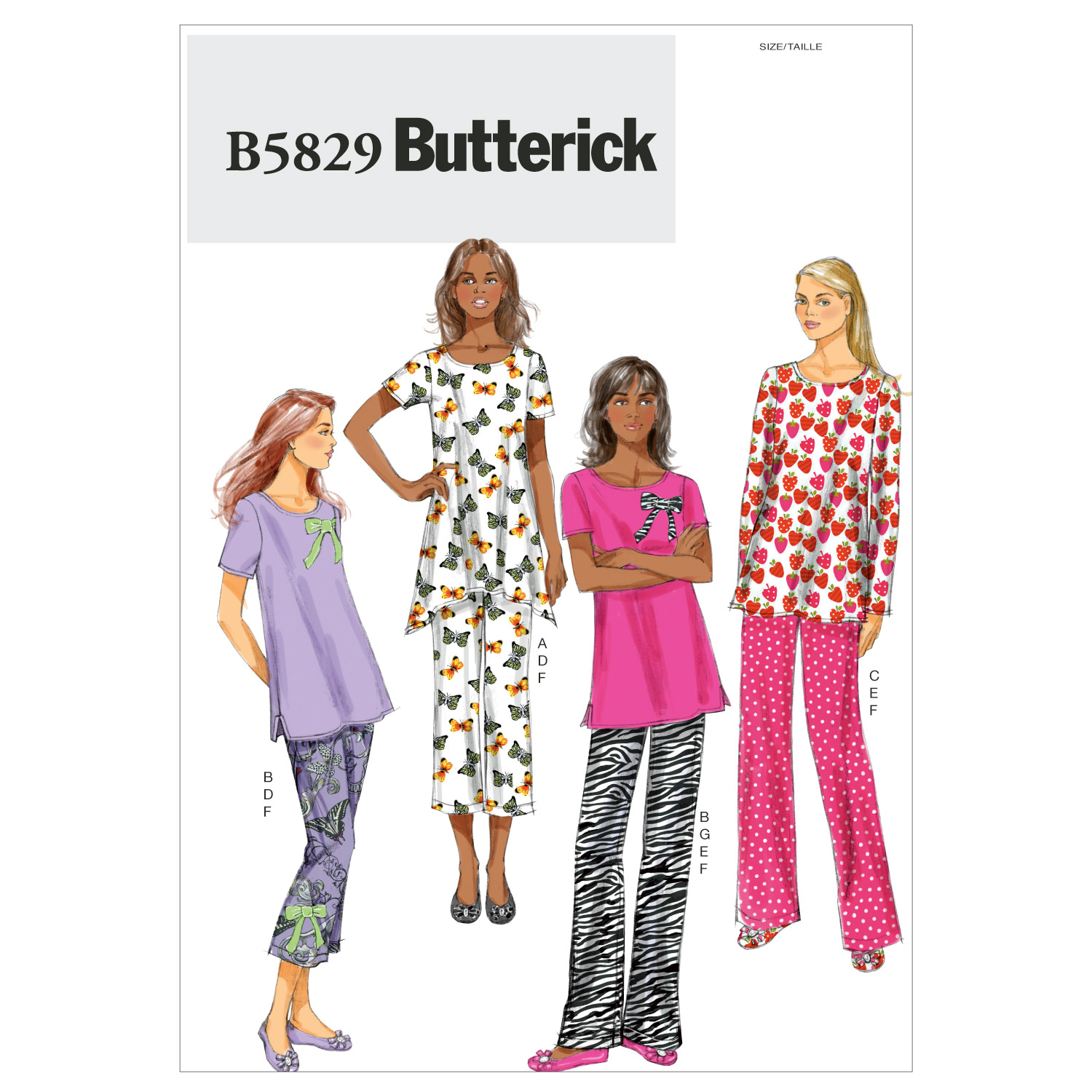 Butterick Misses Sleep & Lounge-B5829