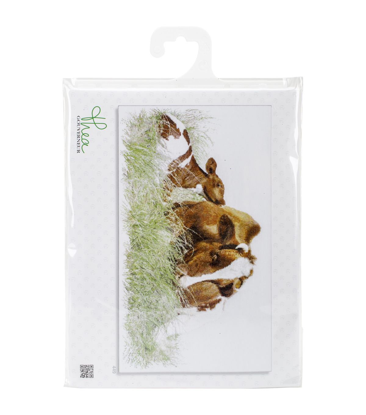"Brown Cow On Aida Counted Cross Stitch Kit-17.75""X27.5"" 16 Count"