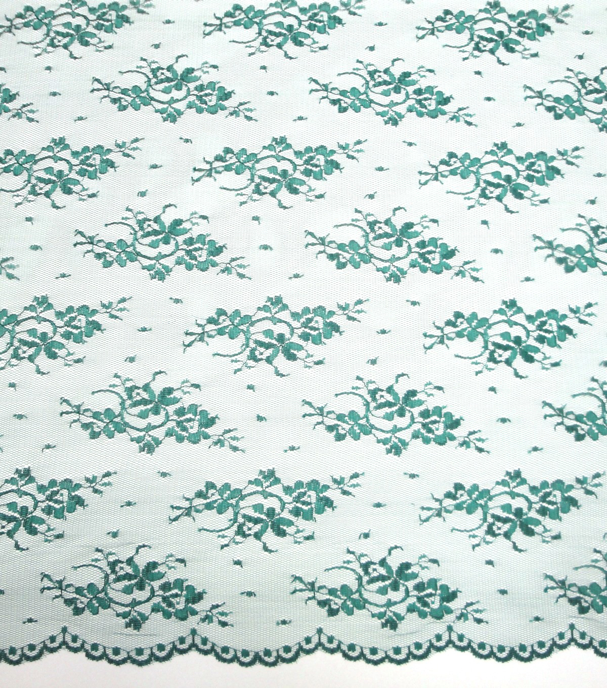 "Casa Embellish Lace Fabric 54""-Chantilly Evergreen"