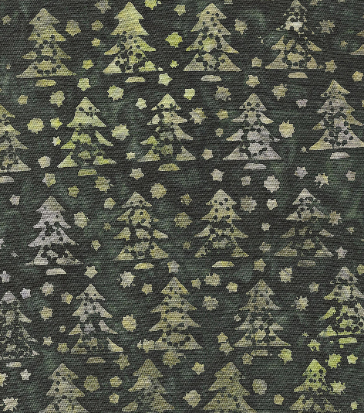 Maker's Holiday Cotton Print Batik Fabric 44''-Green Pine Trees