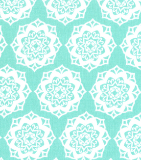 Quilter's Showcase Cotton Fabric-Medallion Ice Green/White