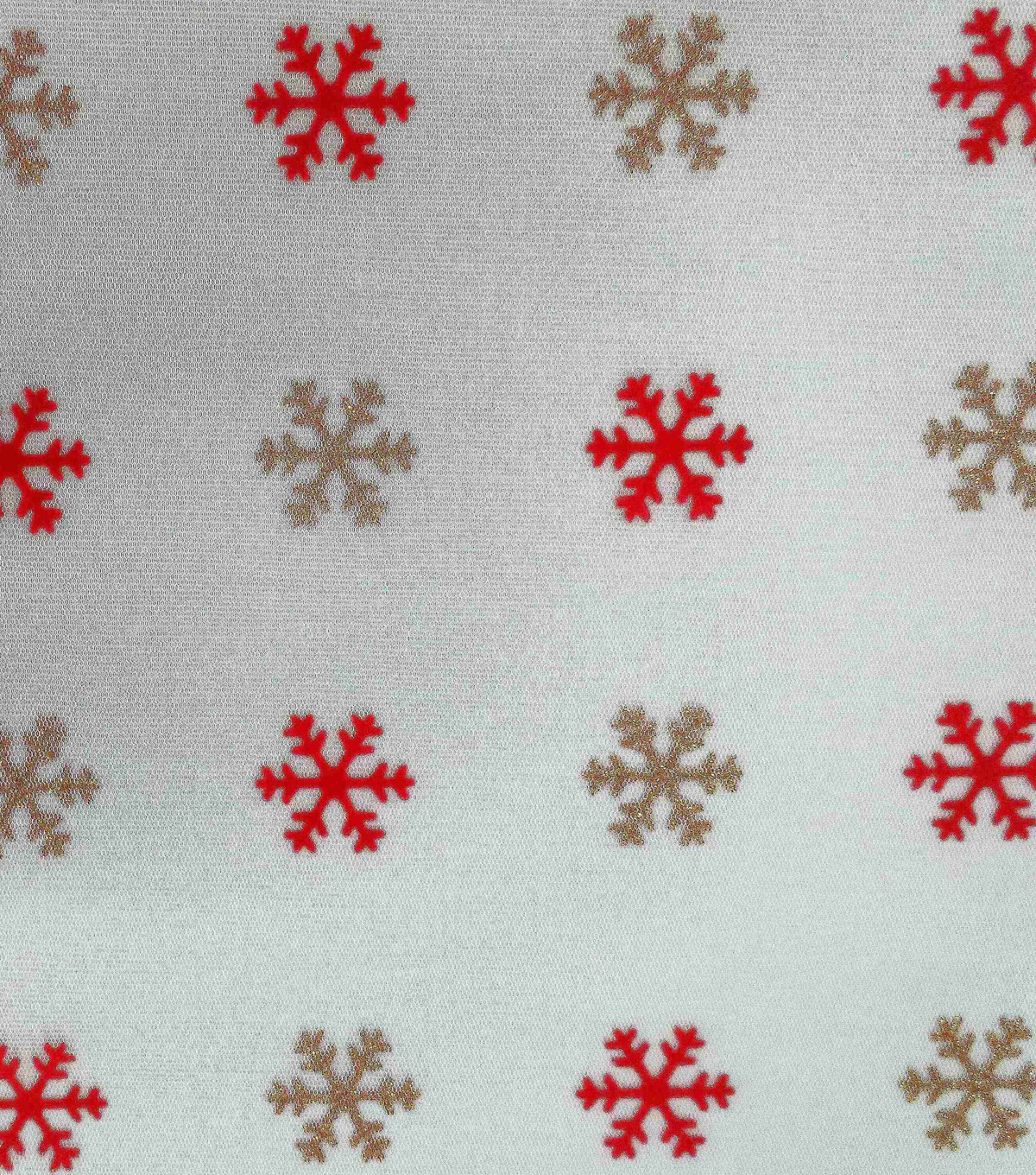 Sew Sweet Decorating Flocked Mesh Fabric 60\u0022-Silver Ornament