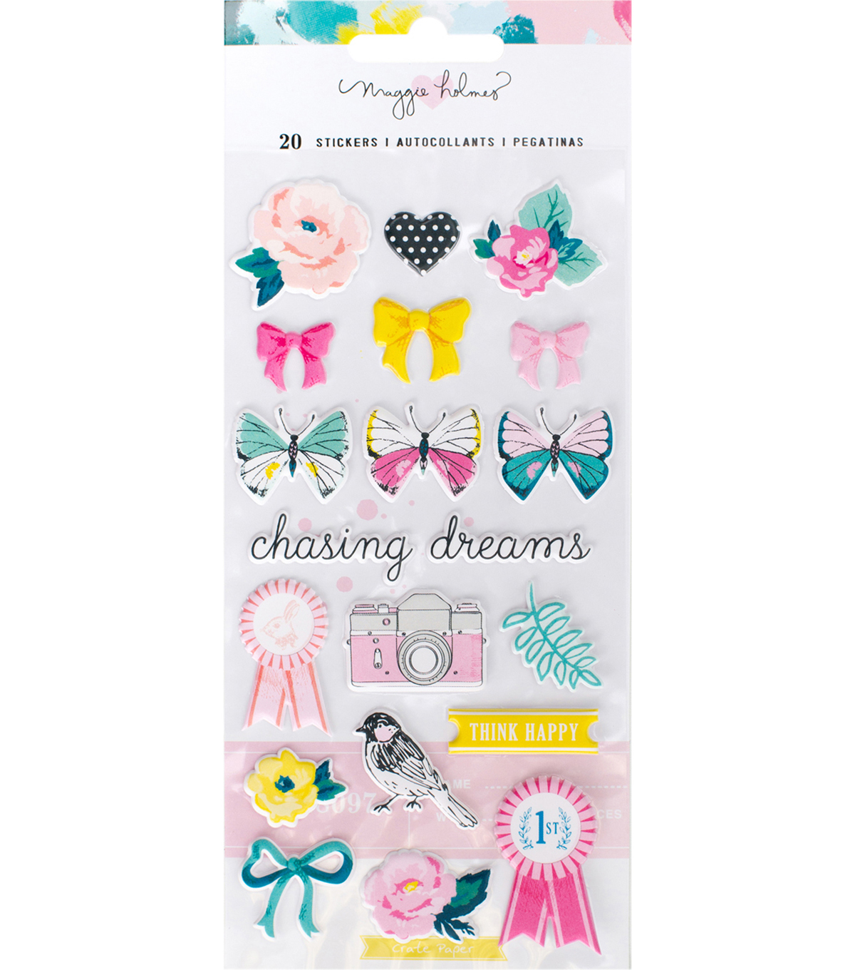 Chasing Dreams Puffy Stickers-Icons