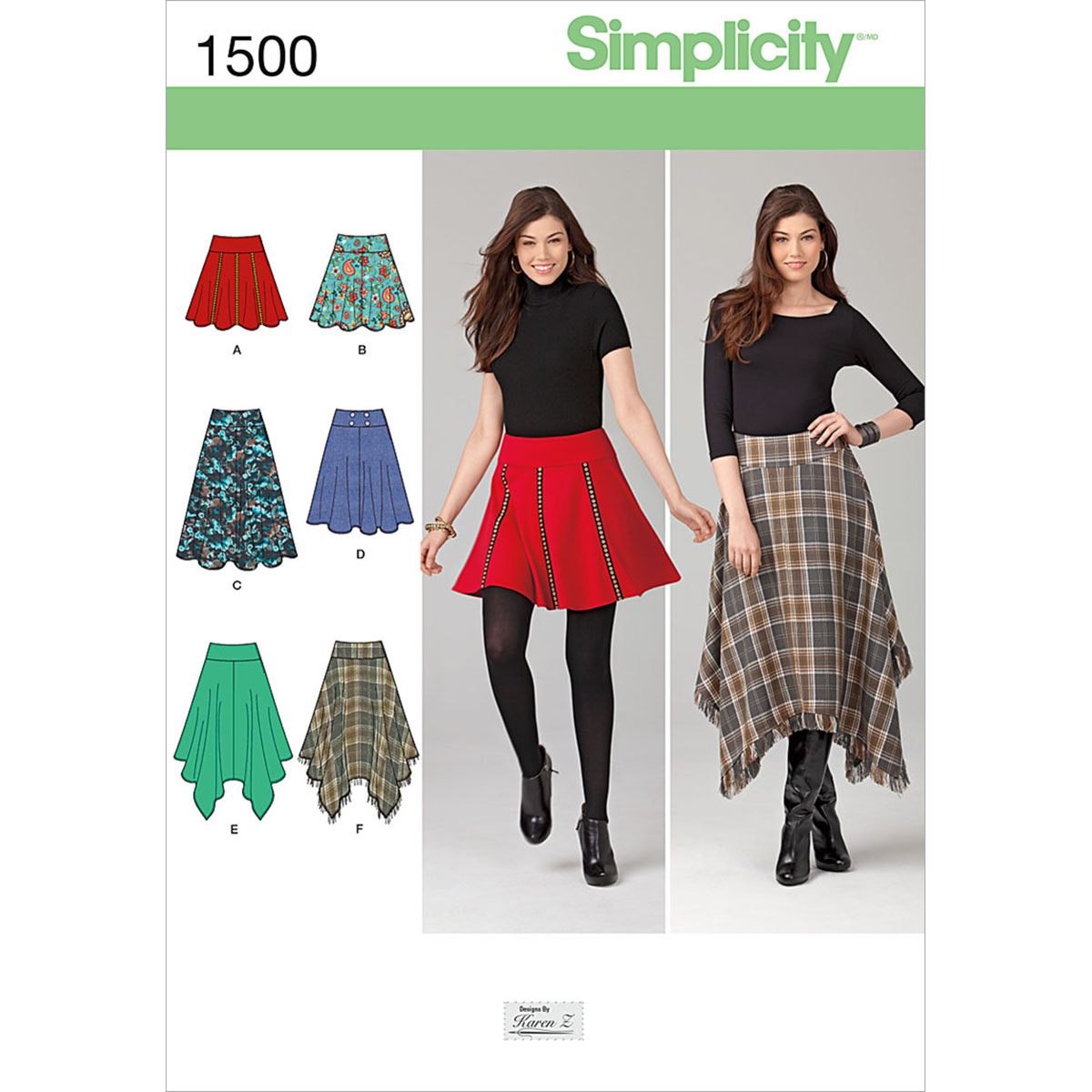 Simplicity Pattern 1500H5 6-8-10-12--Misses Skirts Pants