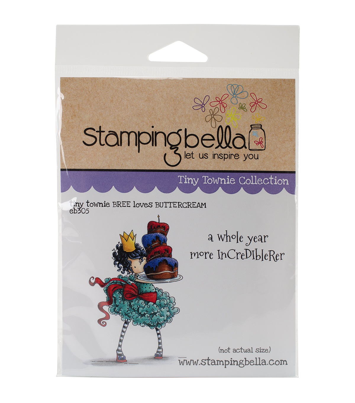 Stamping Bella Cling Rubber Stamp-Tiny Townie Bree Loves Buttercream