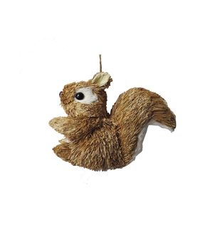 Maker\u0027s Holiday Christmas Woodland Lodge Sisal Squirrel Ornament