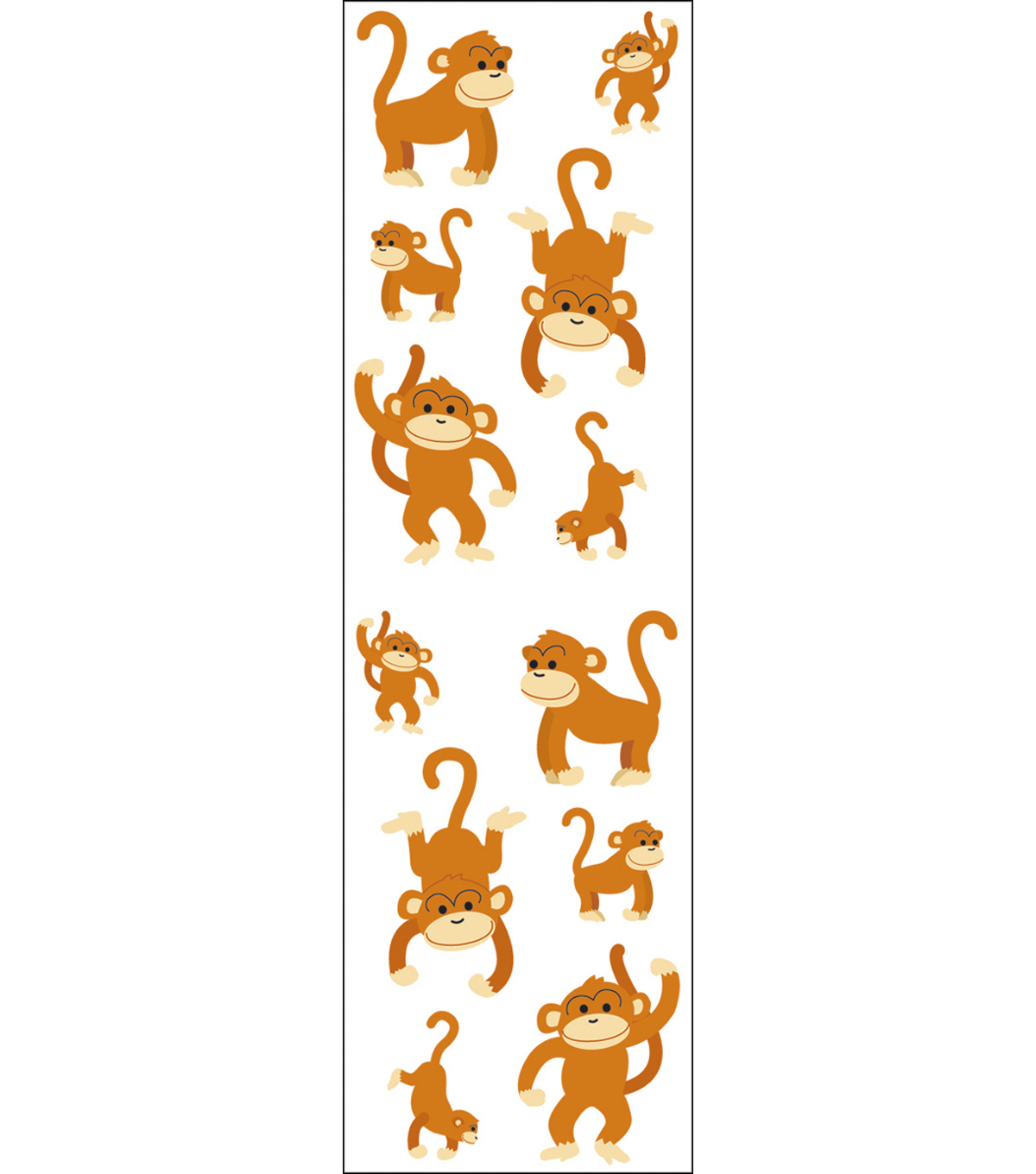 Mrs. Grossman\u0027s Stickers-Playful Monkeys