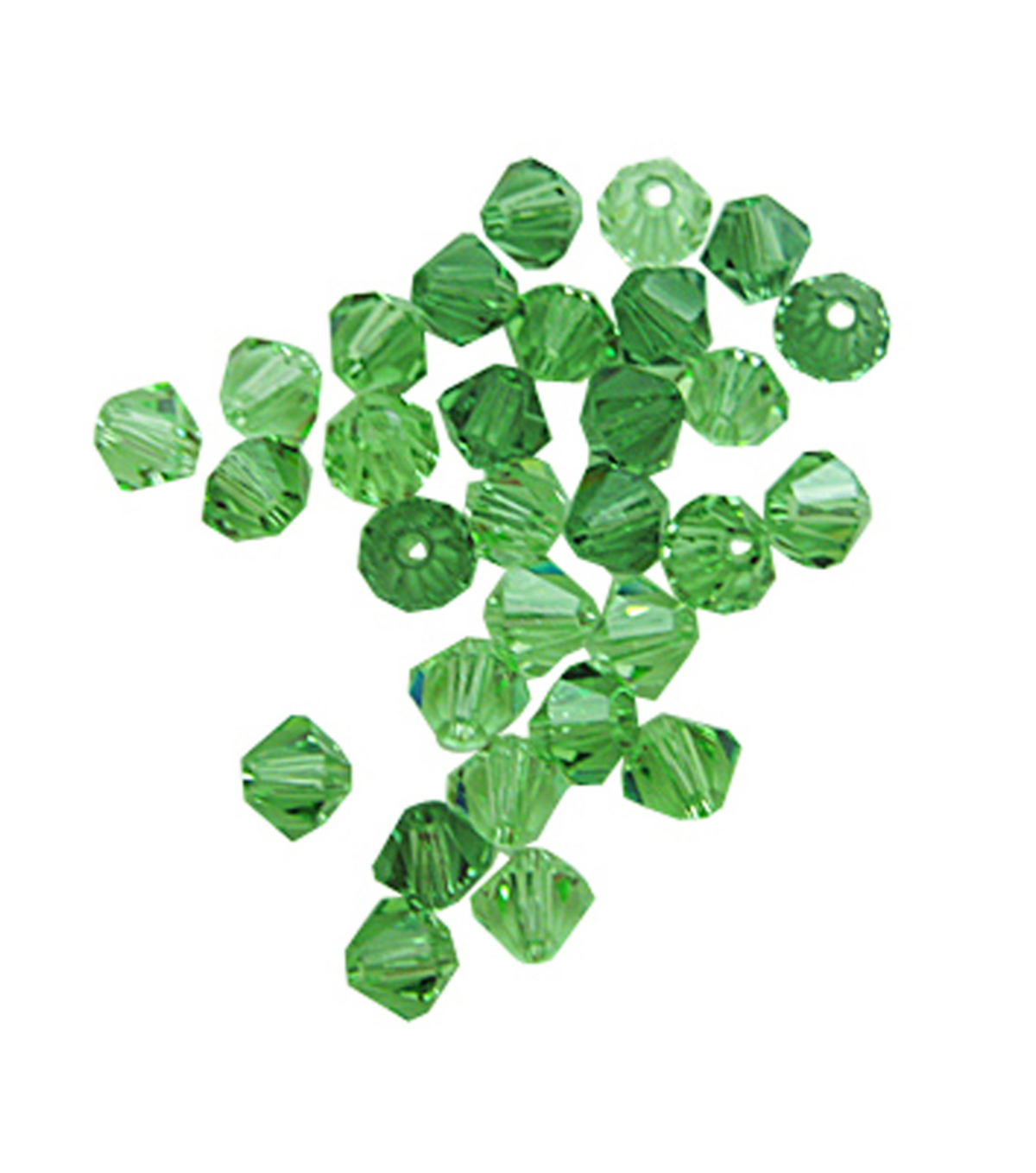 Bicone Mix 4mm Green