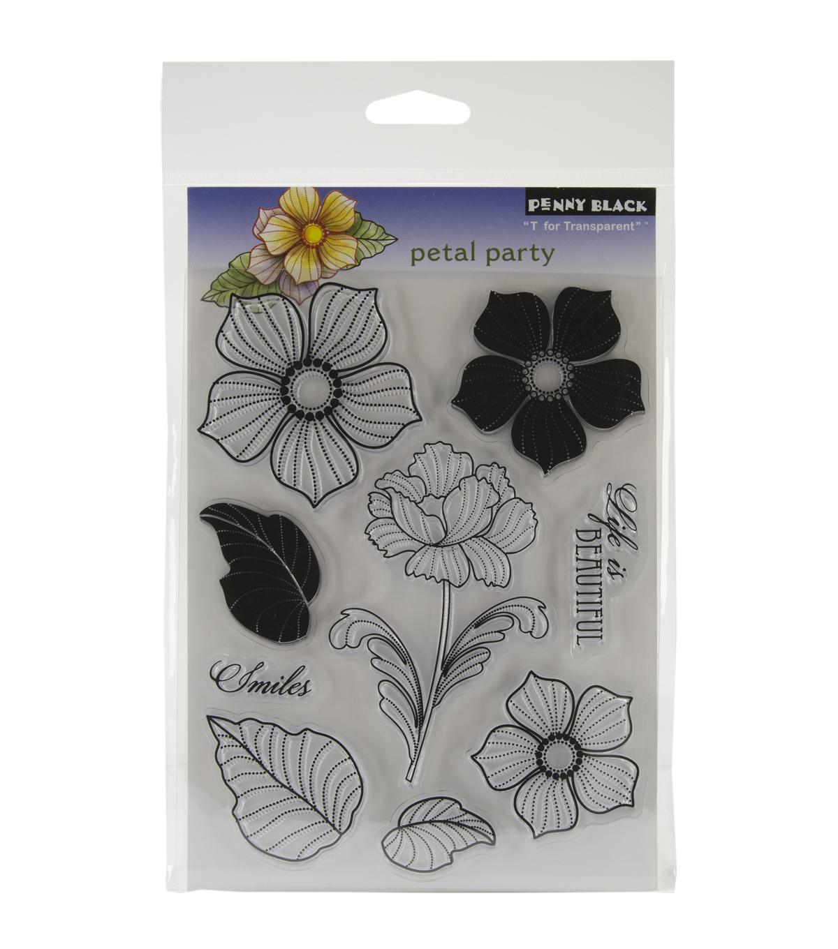 Penny Black Clear Stamps 5\u0022X7.5\u0022 Sheet-Petal Party