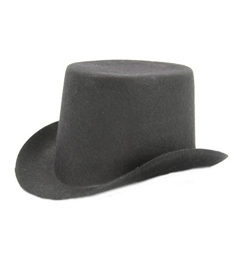 Stiffened Felt Top Hat 5-1/2\u0027\u0027-Black